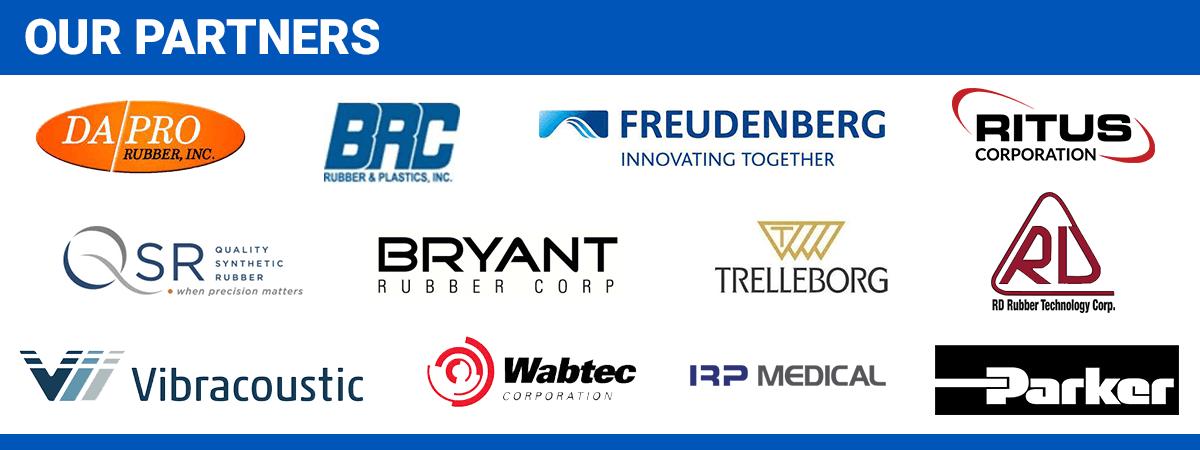 Grid of partner logos